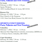 Sports Concussions: Facts, Fallacies and New Frontiers – Register Now!